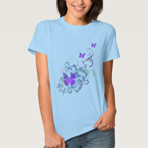 Bright Purple Butterfly T-Shirt