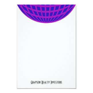 Bright purple circle globe business corporate card