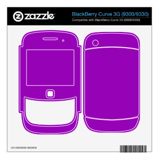 bright purple color BlackBerry decal