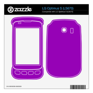 bright purple color LG optimus s skins