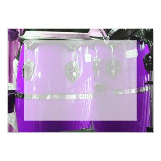 Bright purple conga drums photo card