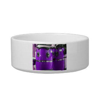 Bright purple conga drums photo pet water bowl