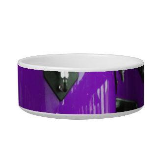 Bright purple conga drums photo pet food bowls