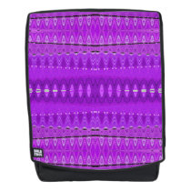 Bright Purple Diamond Pattern Backpack