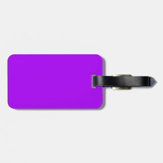 bright purple do it yourself design template bag tag