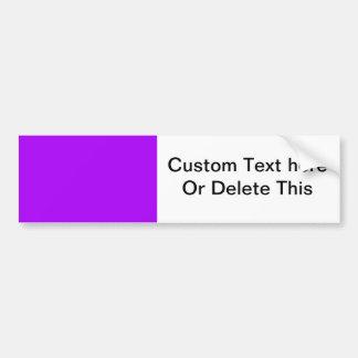 bright purple do it yourself design template bumper sticker