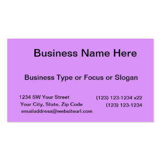 bright purple do it yourself design template business card