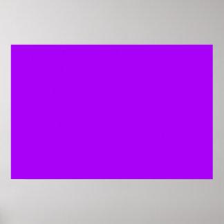 bright purple do it yourself design template poster