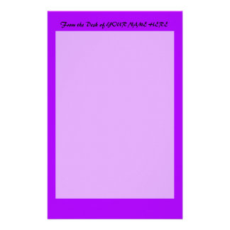 bright purple do it yourself design template stationery