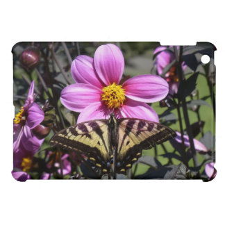 Bright Purple Flower with Butterfly on Petals Cover For The iPad Mini