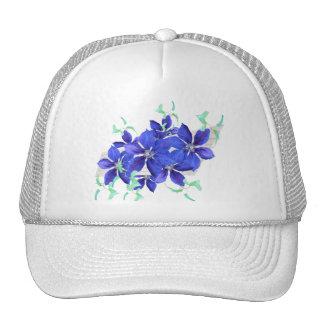 Bright Purple Flowers Celebration Cap - Clematis Trucker Hat