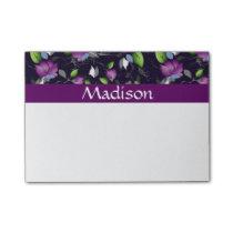 Bright Purple Flowers Pattern Post-it Notes
