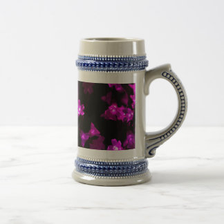 Bright Purple Flowers with White Centers Beer Stein