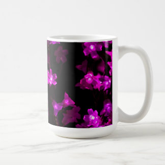 Bright Purple Flowers with White Centers Coffee Mug