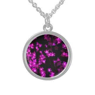 Bright Purple Flowers with White Centers Pendants