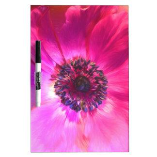 Bright Purple Fuchsia Flower Art Dry Erase Board