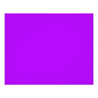 Bright Purple Fuchsia Neon Purple Color Only Full Color Flyer