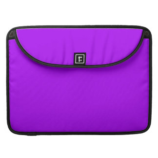 Bright Purple Fuchsia Neon Purple Color Only MacBook Pro Sleeves