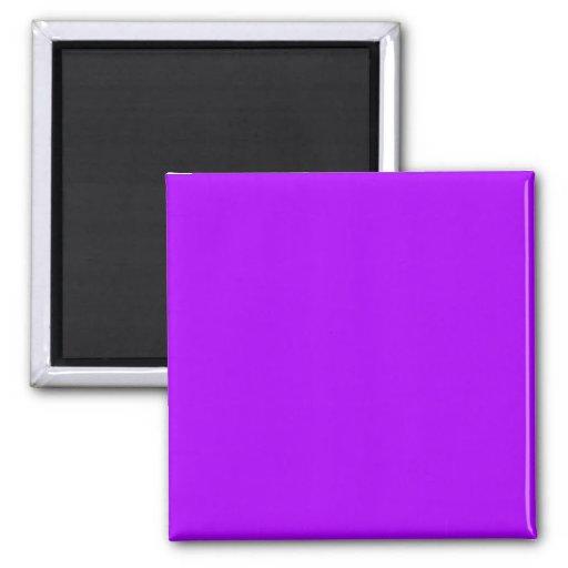 Bright Purple Fuchsia Neon Purple Color Only Magnet