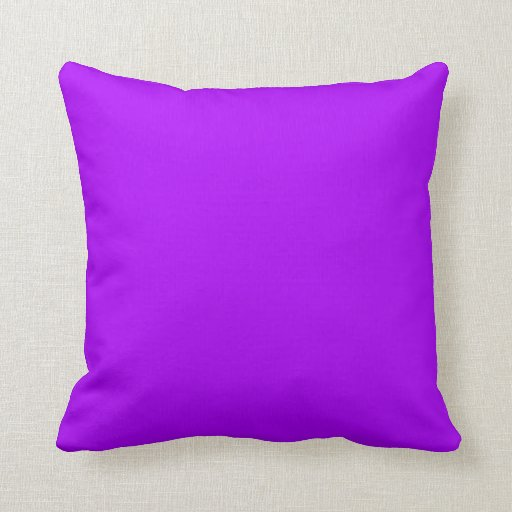 bright purple fuchsia neon purple color only throw pillows With bright purple throw pillows