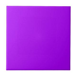 Bright Purple Fuchsia Neon Purple Color Only Tile