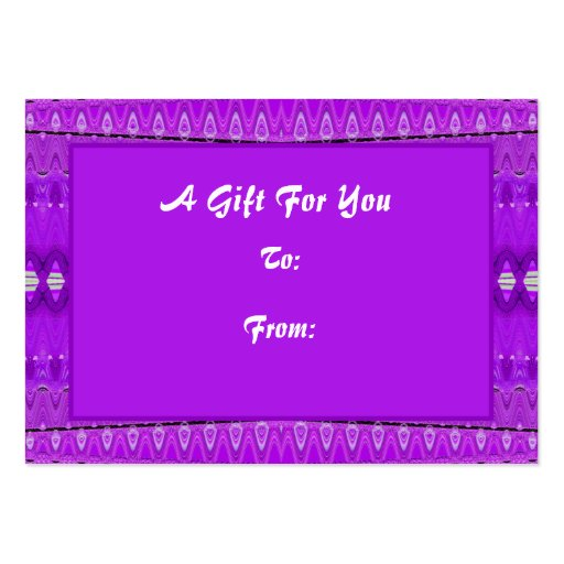 Bright Purple Gift tags Large Business Card