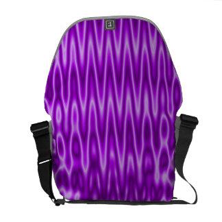 Bright purple groovy pattern commuter bags