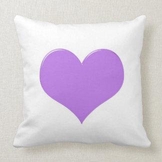 Bright, purple heart design pillow.