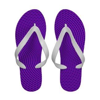 Bright Purple Mod Design Flip-Flops