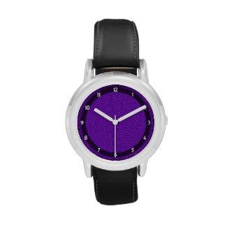 Bright Purple Mod Design Wristwatch