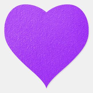 Bright Purple Neon Trendy Colors Heart Sticker