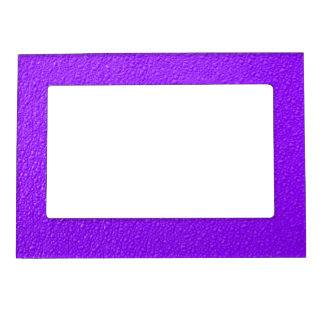 Bright Purple Neon Trendy Colors Magnetic Picture Frame