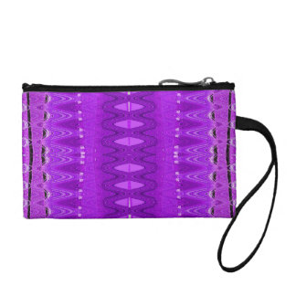 bright purple pattern coin wallet