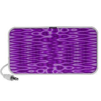bright purple pattern iPod speakers