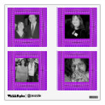 bright purple pattern photo frames room graphic