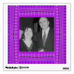 bright purple pattern photo frames wall decals