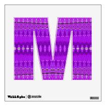 bright purple pattern wall decal
