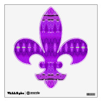 bright purple pattern wall sticker
