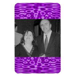 bright purple photoframe magnet