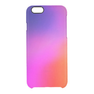 Bright Purple Pink And Orange Abstract Glow Clear iPhone 6/6S Case