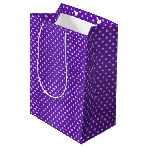 Bright Purple Polka Dots Pattern Medium Gift Bag