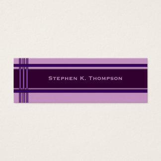 Bright Purple Professional Stripes Block Mini Business Card