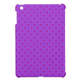 Bright purple retro circle square pattern iPad mini cover