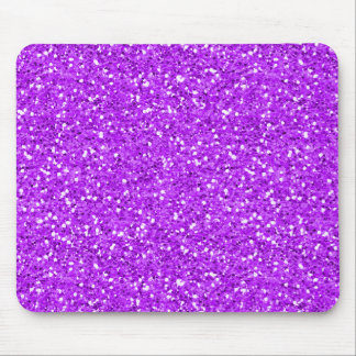 Bright Purple Shimmer Glitter Mouse Pad