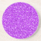 Bright Purple Shimmer Glitter Sandstone Coaster