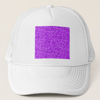 Bright Purple Shimmer Glitter Trucker Hat