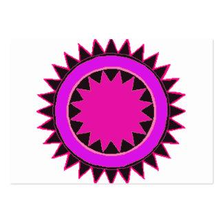 Bright purple star digital graphic business card template