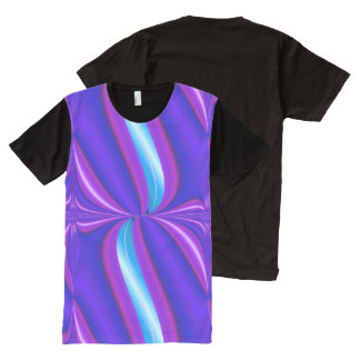 Bright Purple Turquoise Mod Design All-Over-Print T-Shirt