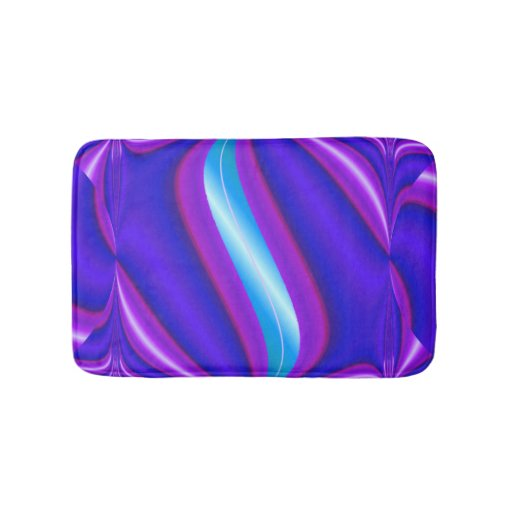 Bright Purple Turquoise Mod Design Bath Mat Zazzle