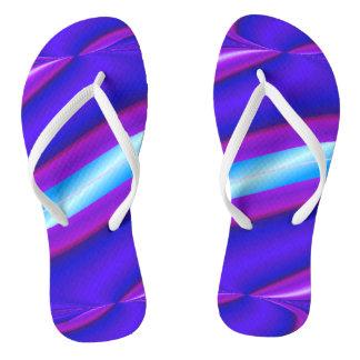 Bright Purple Turquoise Mod Design Flip Flops